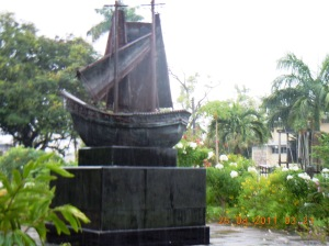 Replica of first indian ship in Guyana (1)