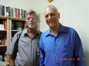 With Dr. Cheddi Jagan junior at Gy. (5)