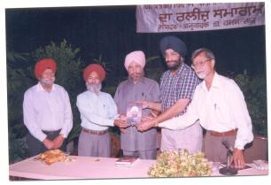 Daljit Singh -Hindi poetry release-Amritsar-2002